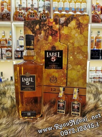 Rượu Label 5 12YO Hộp Quà