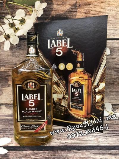Rượu Whisky Label 5 Classic - Hộp Quà