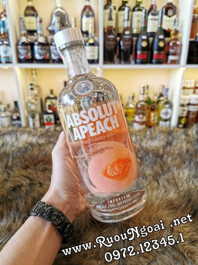 Rượu Vodka Absolut Apeach