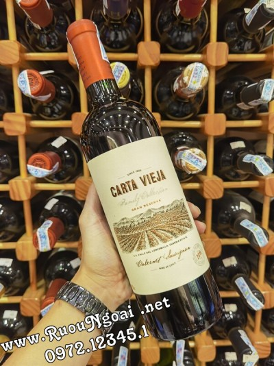 Rượu Vang Chile Carta Vieja Gran Reserva