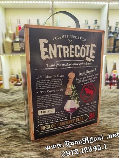 Rượu Vang Hộp Entrecote Pháp