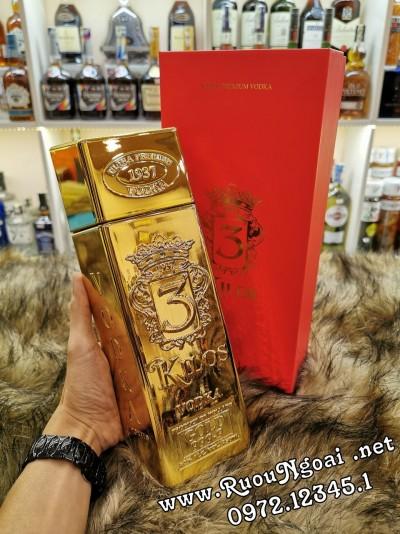 Rượu Vodka 3 Kilos Gold 750ml