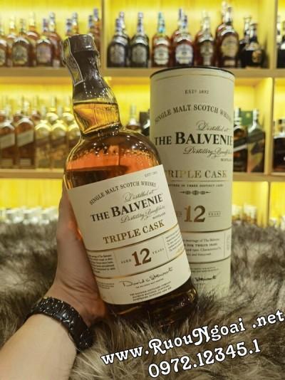 Rượu Balvenie 12 Năm Triple Casl 1000ml